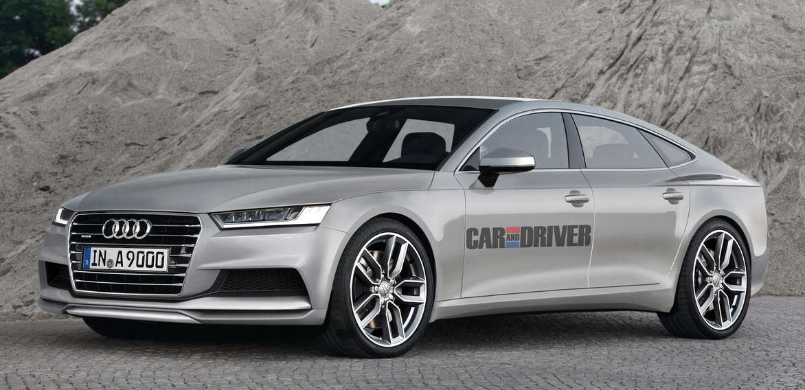 Первые изображение появились прообраза новой модели Audi A9