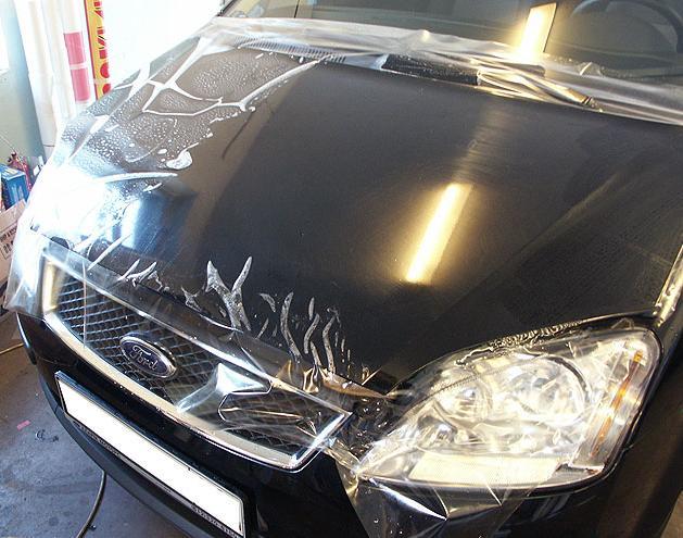 Оклейка авто антигравийной пленкой
